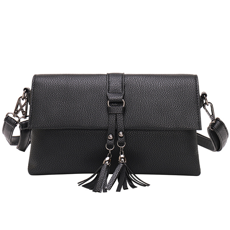 tassel Day Clutches 2017 new chispaulo brand women high quality leather shoulder Messenger bag bolsa feminina