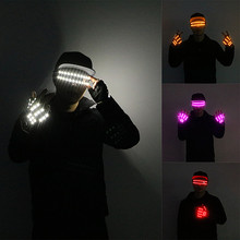 2019 New High quality LED glasses bar night show performance gloves Halloween Christmas party singer DJ props