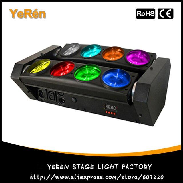 Led Луч Переезд Головного Света RGBW quad цвет LED Паук Световой эффект Диско Dj Light