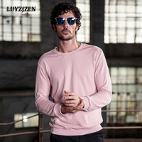 2017 Autumn Winter Fashion Crewneck Sweatshirt Mens Hoodies Casual Cotton Solid Fleece Male Pullover Tracksuit Men