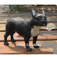 Cute Simulation Puppy Statue Medium sized FRENCH BULLDOG Care for dogs Bust Resin Action Figure Collectible Model Toy 10.5CM
