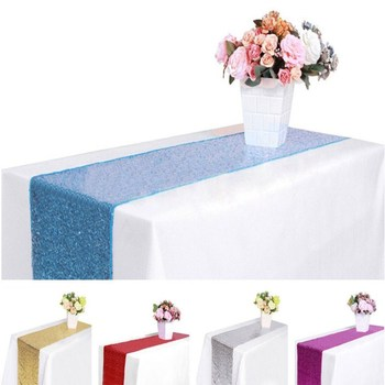 10PCS/LOT Sequin Table Runners Gold/Silver/red Glitter Table Runners Weddings Table Decorative TableRunners Free Shipping