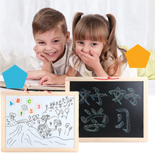Wooden Drawing Board Magnetic Double-sided Small Blackboard Writing Children Wall-mounted Household Childrens Toy