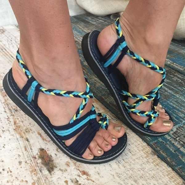 Женские летние веревочки, с открытым носком