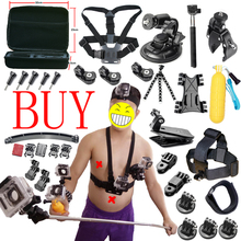 Action Camera accessories Set for Gopro Hero SJCAM XIAOMI YI 4K 2 Eken H9R H8R Gitup Git2 Video Sports Action Cam