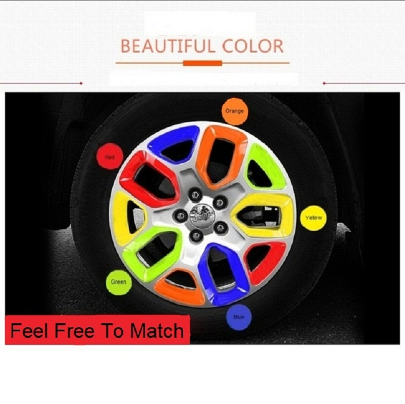 MOPAI Car Exterior Wheel Hub Cover Decoration Cover Frame ABS Stickers For Jeep Renegade 2015 Up Car Styling цена и фото