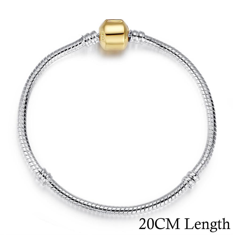 5 стиль 925 серебряных любовь цепи змейки и браслет 16 см- 21 см браслеты омар PA1104 - Окраска металла: 20CM PA9001