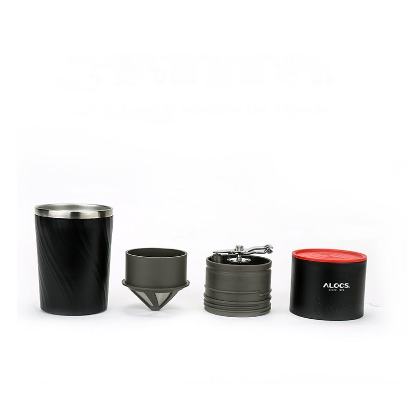 Alocs 4-en-1 ultraléger main café sont des rectifieuses eau cafetière moulin pour camping extérieur voyage randonnée CW-K16