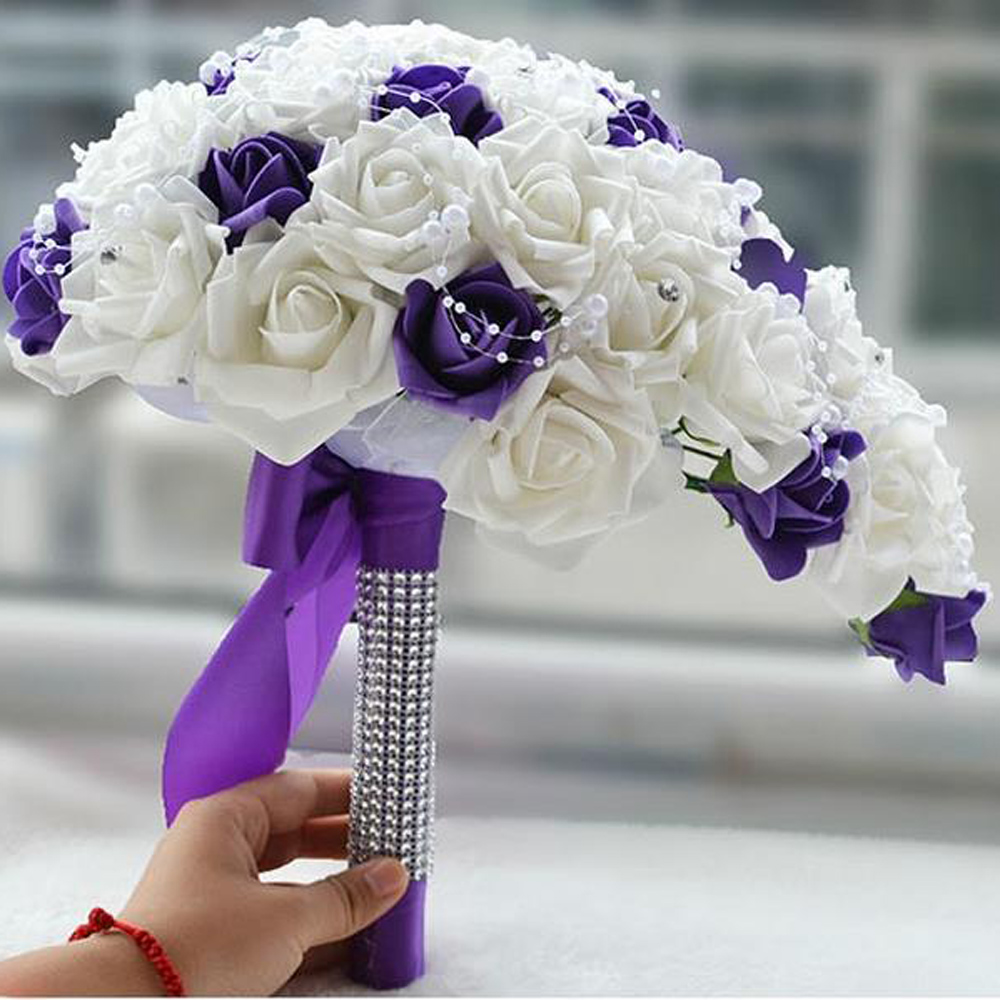 brides rose wedding flowers teardrop cascade bridal bouquet with diamantes and pearls stunning wedding bouquet