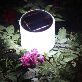 HUANJUNSHI Inflatable Solar Light 10 LED Solar Powered Foldable Light Outdoor Garden Yard Emergency Solar Road Lamp