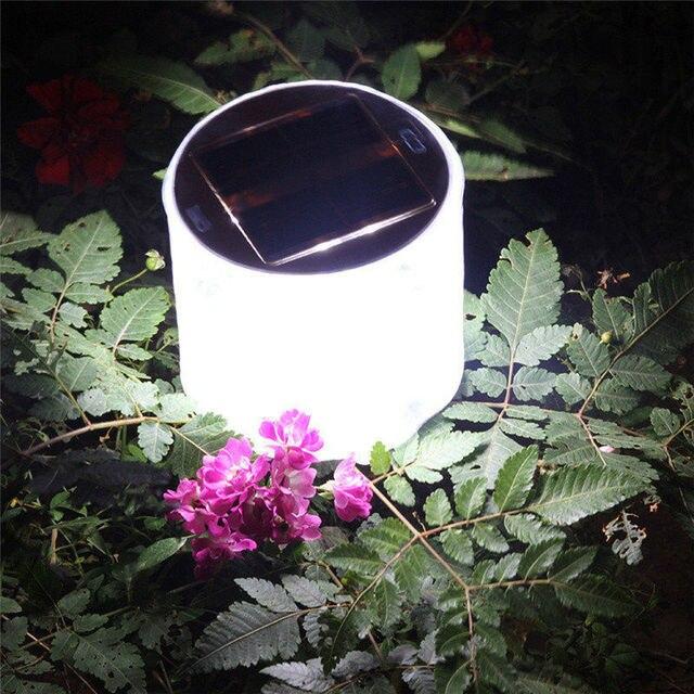 HUANJUNSHI Inflatable Solar Light 10 LED Solar Powered Foldable Light Outdoor Garden Yard Emergency Solar Road Lamp