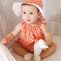2016 Nova Macacão de Bebê de Verão Dot Impressão Bonito das Crianças Roupas para Recém-nascidos Chiffon Sem Mangas Macacão de Bebê Roupas de Menina