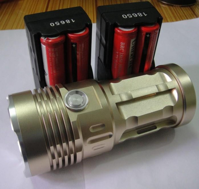 5000 Lumen 3x CREE XM-L XML U2 LED Flashlight Torch 4*18650 Charger 30W Light