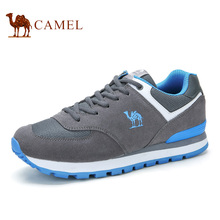 Camel men 's shoes sneakers cross – country running shoes cowhide running shoes travel men' s shoes A632345266