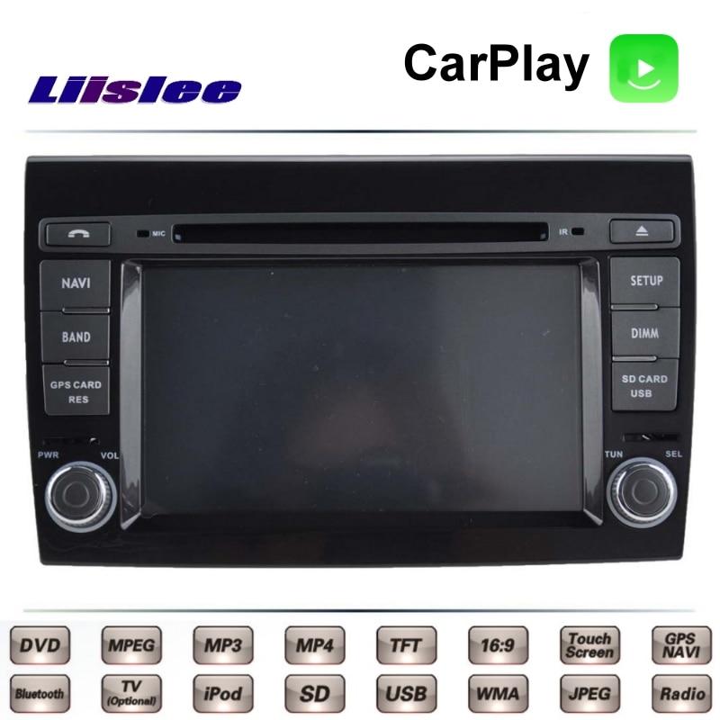 For Fiat Bravo Ritmo 2007~2017 Car Multimedia TV DVD GPS Radio Carplay Original Style Navigation Liislee Advanced Navi