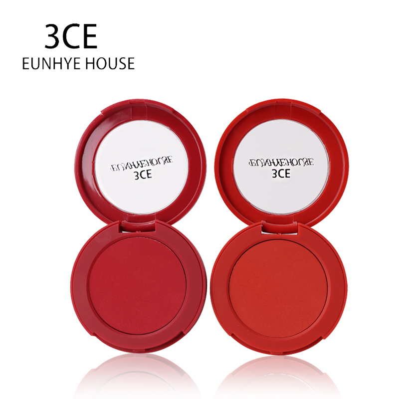 3CE Eunhye House New Style Blush Cosmetics Matte Pearl Rouge Blush High Quality Make Up Face Blusher Spring and Summer Blush