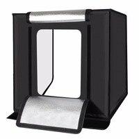 Tycipy 60*60 см Портативный мини светлая коробка фотостудия Box светодиодный свет комната складной Studio софтбокс фотографии фона палатка