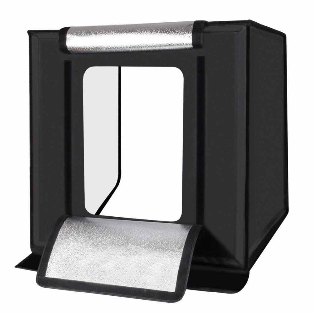 Tycipy 60*60 cm Portable Mini boîte à lumière Photo Studio boîte lumière LED chambre pliable Studio boîte souple photographie fond tente
