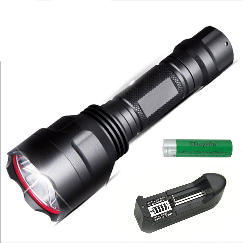 T6/XPE LED Flashlight 500 meters glare light use 18650 rechargeable waterproof self-defense LED Torch outdoor camping lamp