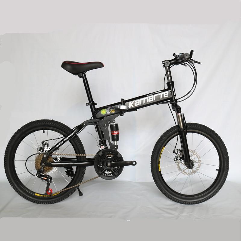 21 vitesses vélo pour enfants 20 pouces pliant VTT frein à deux disques dame vélo 5 couteau roue et roue à rayons vélo pliant