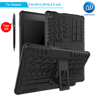 DWAYBOX For Amazon Fire HD 8 2016 8 0 Inch 2in1 Dual Layers Spider Pattern Shockproof