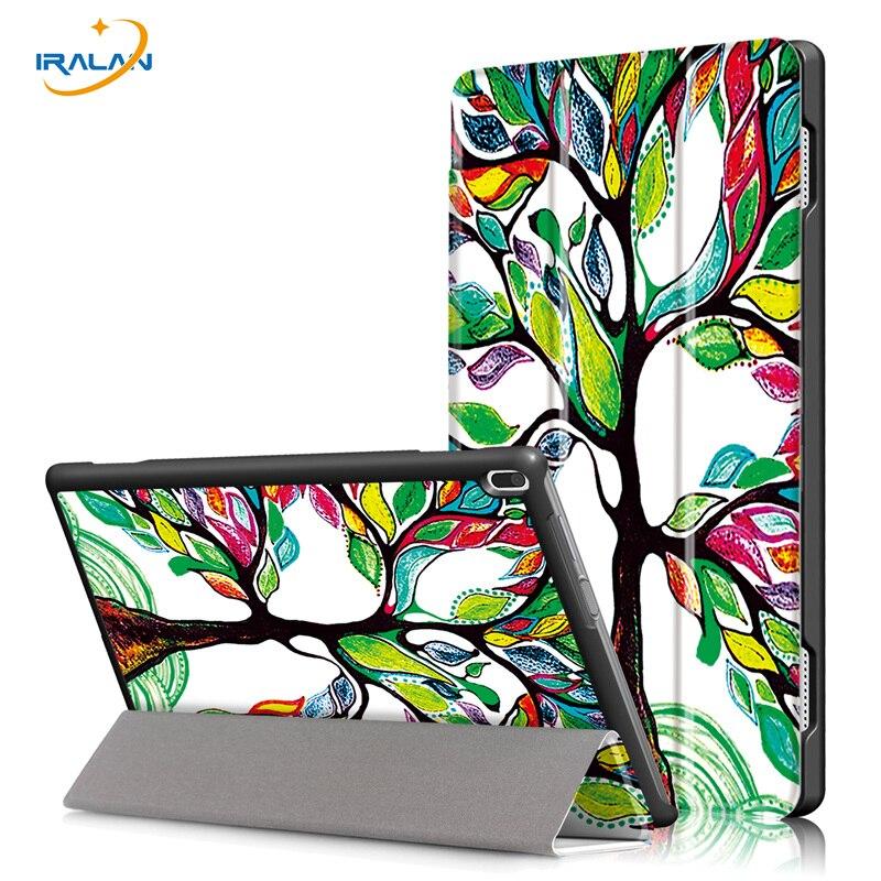 2018 nouveau Ultra Mince PU Cas D'impression En Cuir Pour Lenovo TAB 4 10 Plus TB-X704F TB-X704N tablet Stand Housse De Protection Intelligente + 3 en 1