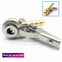 8x28mm Slang Barb, Clip On Bal Voet Air Chuck, open (Stromen Door), Messing Steel, Band/Tyre Inflator Gauge Fitting, Band Reparatie Tools