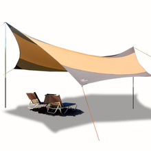 FLYTOP hexagon large size Awning 5-8 person Hiking Sun Shelter Camping Anti-UV Waterproof outdoor Beach awning iron rod