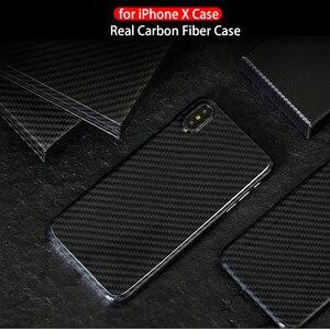 Image 5 - 0.7mm ultra fino caso de fibra carbono real para o iphone x capa traseira de luxo proteção completa padrão de fibra carbono para o iphone x caso