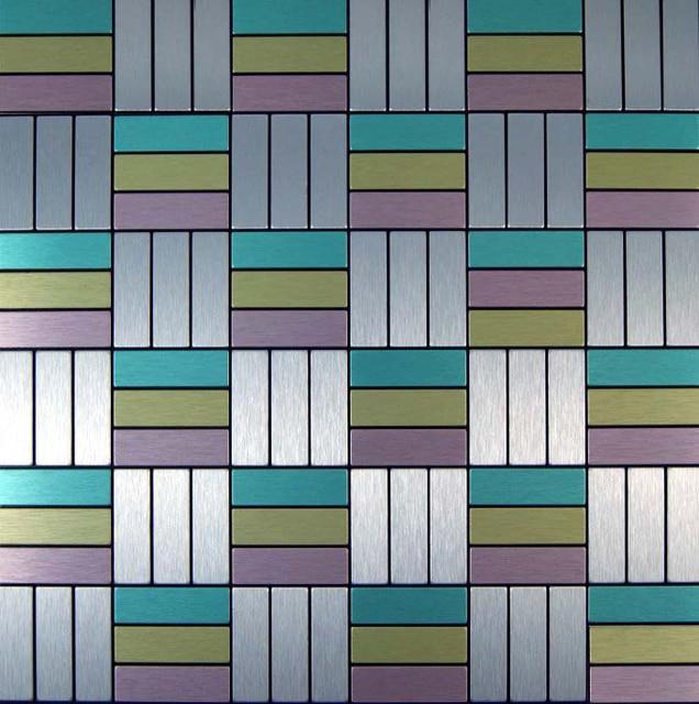 TST adhesive vinyl tile 11 sheets wholesale self adhesive metal wall mirror  tiles for backsplash kitchen