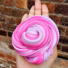 2 color Kids Fluffy Floam Slime Putty Durtend 60ml Scented Stress Relief Cotton mud pet dog Clay Toy DROP SHIP(China)