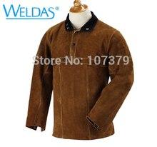 Leather Welder Apron Open Back  Clothing Cow Split Welding Jacket
