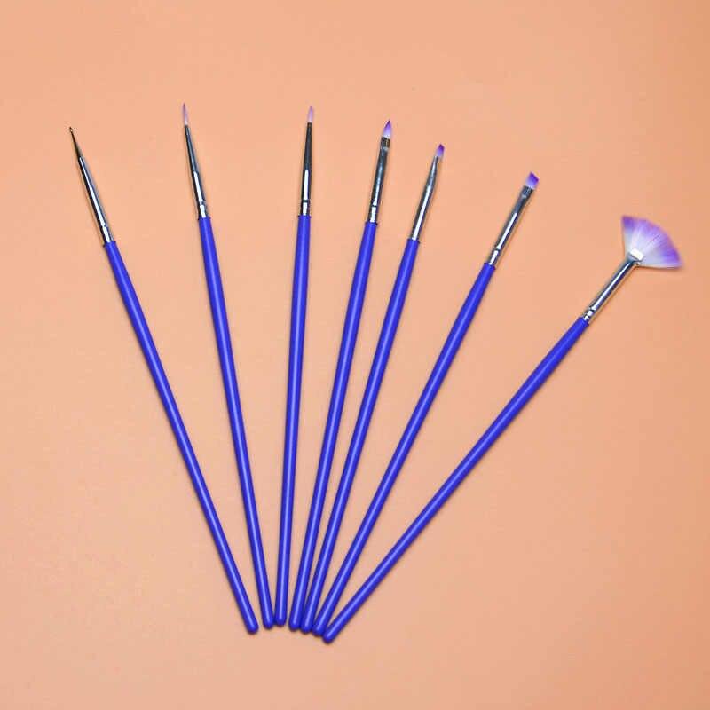 מברשת אוהד ציור קו ציור עט אמנות ציפורן MOONBIFFY מנוקד עיצוב פולני כלי מניקור טיפים קישוט UV ג 'ל בונה