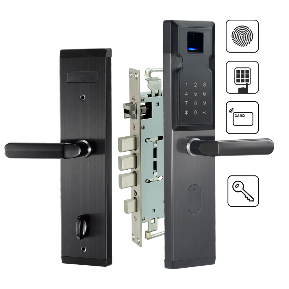 Electronic Biometric Fingerprint Door Lock For Home Security With RFID Card Reader 304 Stainless Steel цена