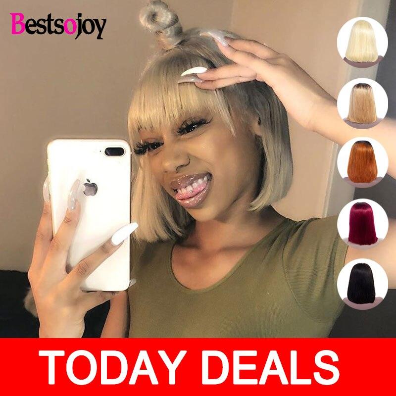 Bestsojoy 613 Blonde Lace Frontal Wig Bob Wig Short Human Hair Wigs For Black Women Brazilian