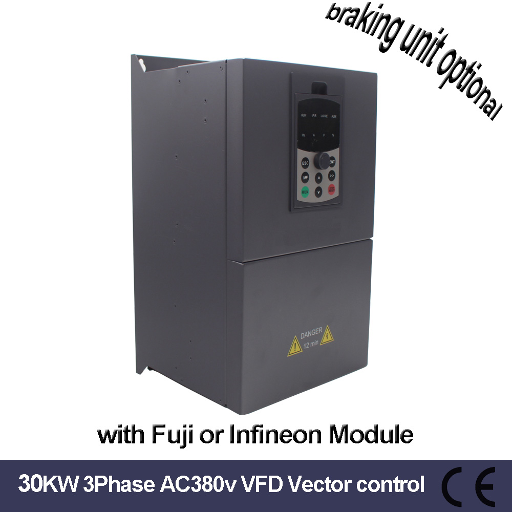 China VFD 380V <font><b>30KW</b></font> Vector Frequency Inverter of Triple 3Phase 60A Vector control <font><b>30KW</b></font> VFD for <font><b>30KW</b></font> <font><b>motor</b></font> image