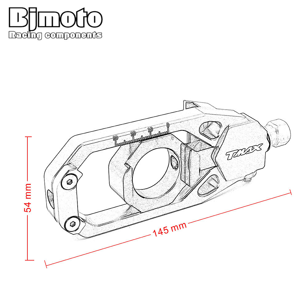 Bjmoto New Cnc Motorcycle Chain Adjusters Tensioners Catena For Case 530 Engine Diagram Yamaha Tmax T Max 2013 2014 2015 2016 Motorbikes In Covers Ornamental Mouldings