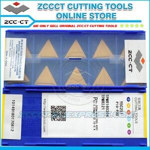 Image 3 - 10 adet ZCC freze kesicisi ekleme TPMR160304 YBC251 ZCCCT karbür cnc makinesi aracı ucu TPMR 160304 TPMR321 çelik