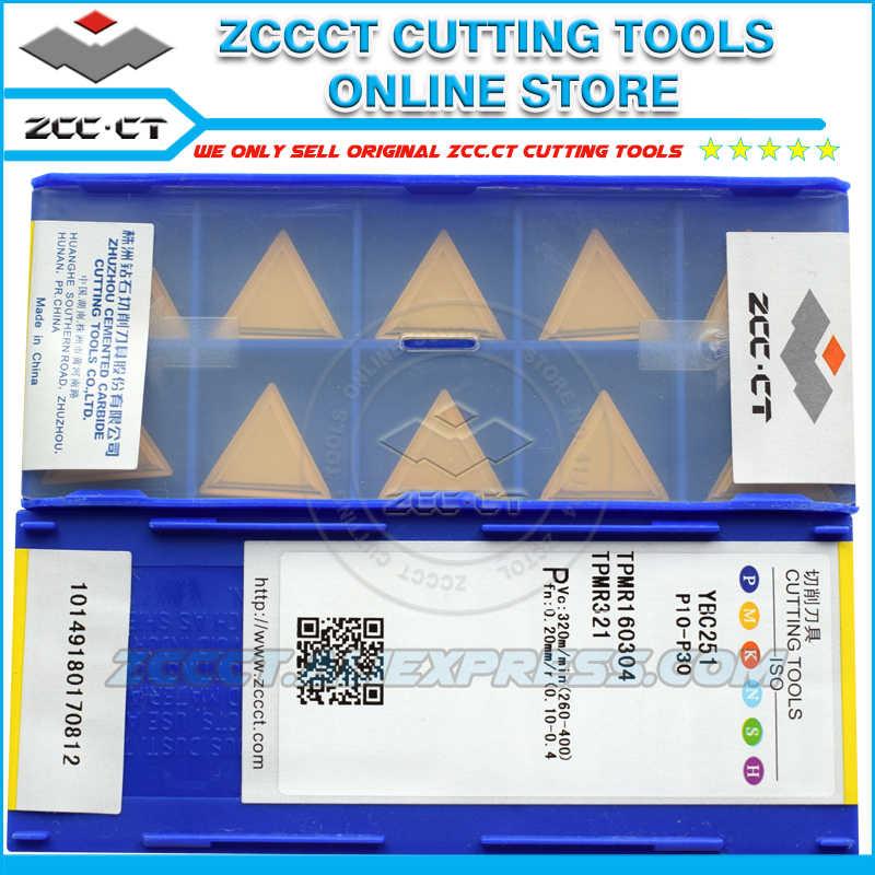 Zcc cortador de trituração tpmr160304 ybc251 zccct carboneto cnc máquina ferramenta inserção tpmr 160304 tpmr321 para aço