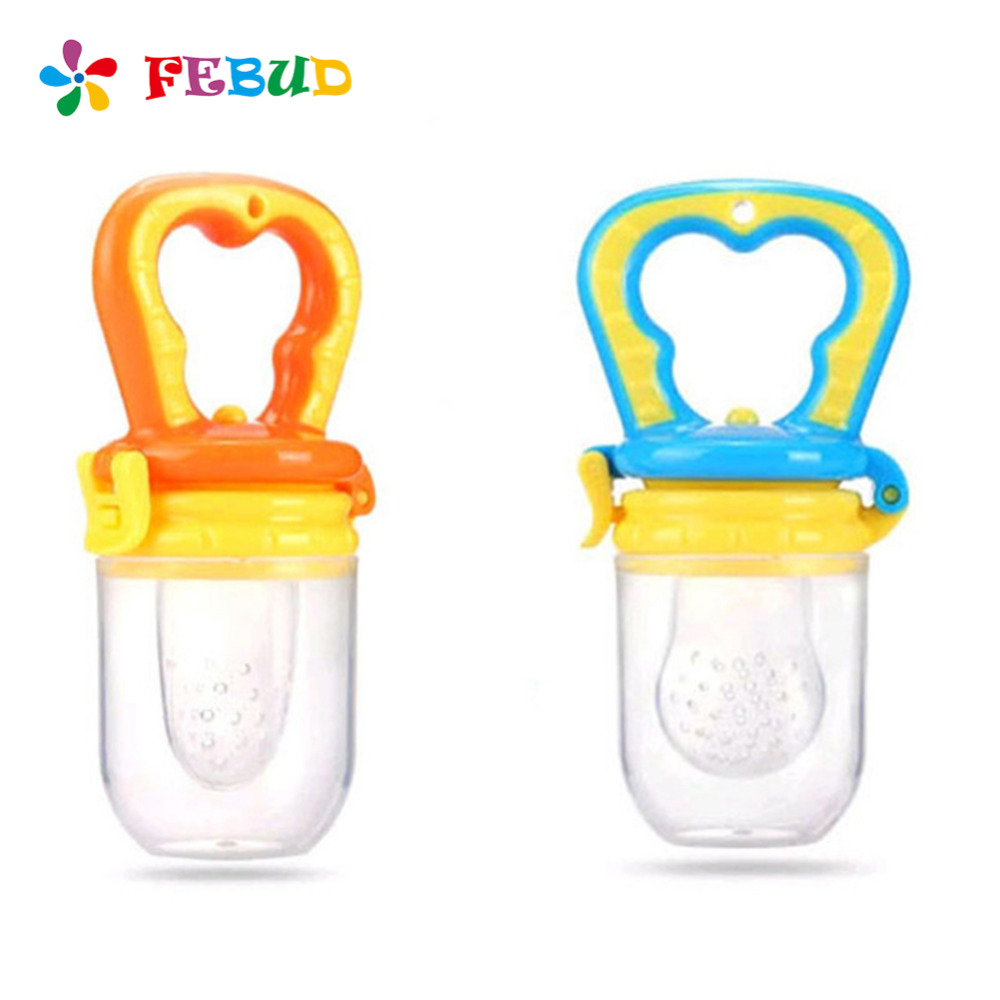 Baby Nipple Kids Safe Nipple Bottles Feeding Fresh Fruits Vegetable Toddler Food Feeder Infant Pacifier 4 colors