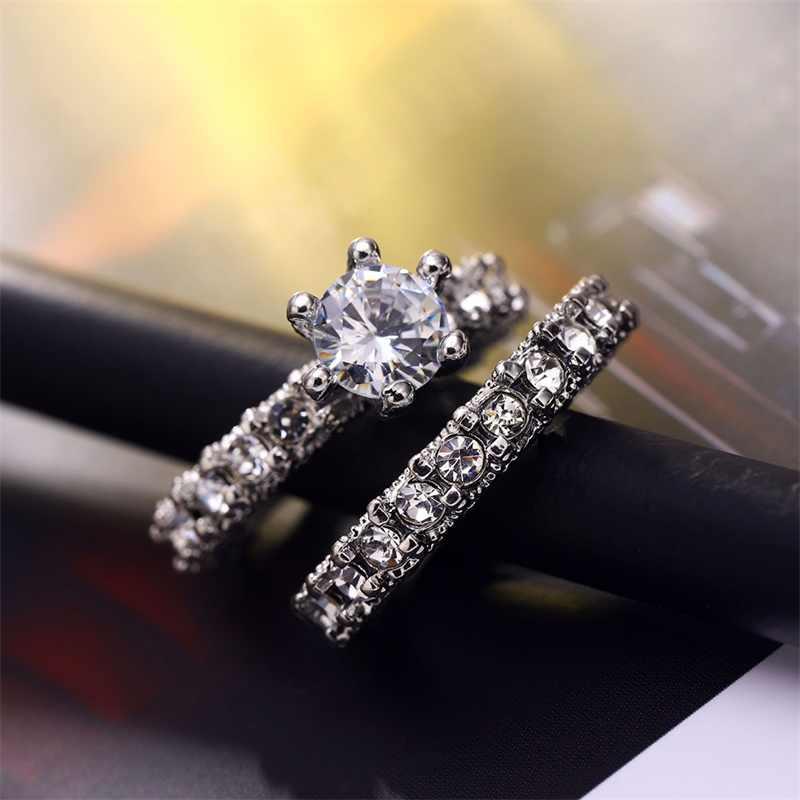 Новинка, модные дизайнерские обручальные кольца с кристаллами, горячая Распродажа, кольца для женщин, AAA белый циркон, кубические элегантные кольца, женские украшения для свадьбы
