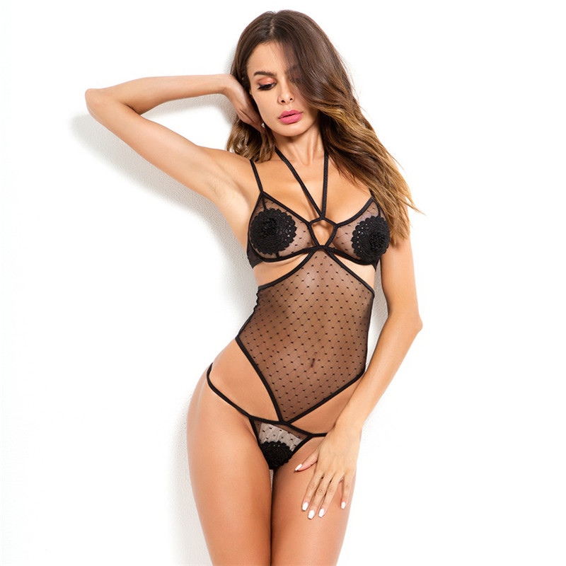 Women Catsuit Sexy Bodysuit Lingerie Hot Erotic Bodysuit Sleepwear Transparent Lace Lingerie Nightwear Porno Costumes Sexy Teddy in Teddies Bodysuits from Novelty Special Use