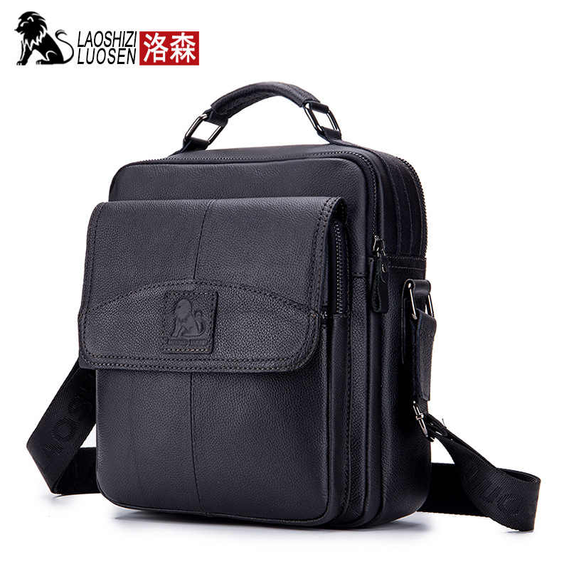Men Bag Male Shoulder Fashion Crossbody Genuine Leather Messenger Small Oil Wax Casual Style Flap Business Travel Handbags Gift