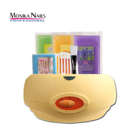 Monika Wax Warmer Paraffin Heater Machine Set for Paraffin Bath Heat Therapy for Hand Care 450gx3pcs Hair Removal Cream