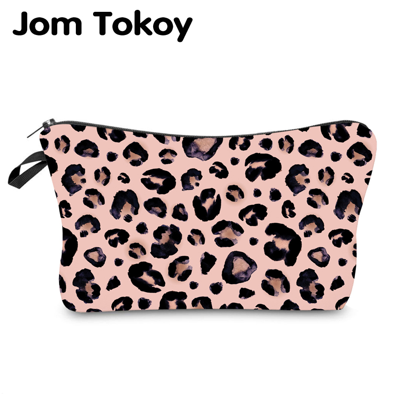 Jom Tokoy Water Resistant Makeup Bag Printing Leopard Cosmetic Bag Organizer Bag Women Multifunction Beauty Bag Hzb974