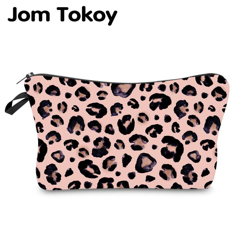 Jom Tokoy Water Resistant Makeup Bag Printing Leopard Cosmetic Bag Organizer Bag Women Multifunction Beauty Bag Hzb974