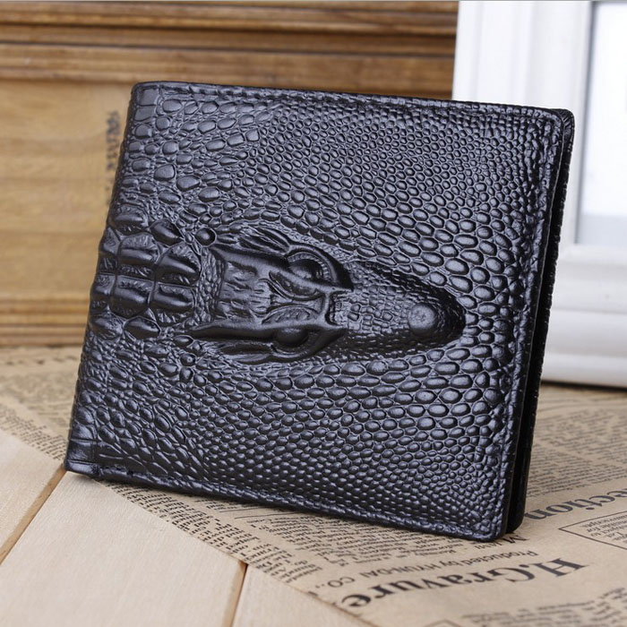 New Crocodile Printed Wallet Men's ID Credit Card Holder Bifold Purse Clutch Pockets Bulk purchase
