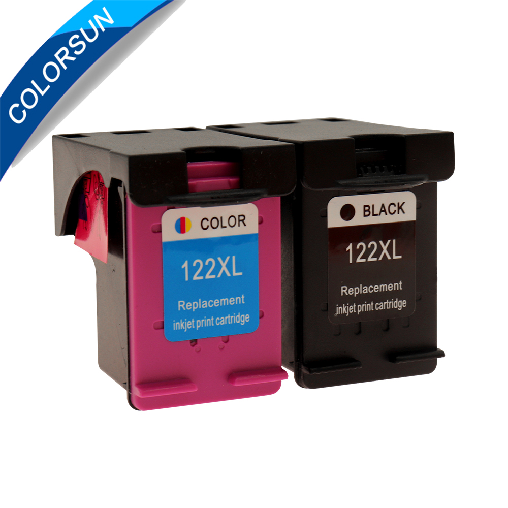 2pc 122XL Remanufactured Ink Cartridge Replacement For <font><b>HP</b></font> <font><b>122</b></font> For <font><b>HP</b></font> Deskjet 2050s 3000 3052A 3054 3540 1000 2000 Printer image