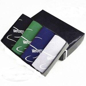 Image 5 - 4PCS/Lot Men Shorts Cotton Breathable Soft Underpants Male Boxer Shorts Sexy Boxers Plus size L,XL,XXL,XXXL For Men