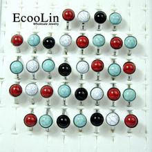 150 шт Марка ecoolin модные бирюзовые камни cobblestone кольца